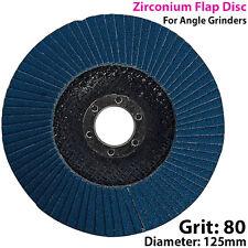 125mm 80 Grit CIRCONIO Solapa Disco-Para Amoladora De ángulo-Molienda De Metal