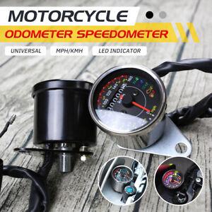 MPH Motorcycle Tachometer Universal Motorbike LCD Digital Speedometer    W//