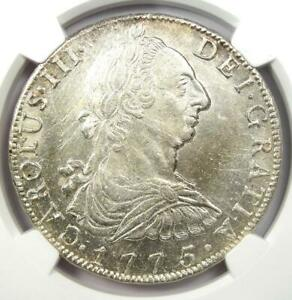 1775-PTS Bolivia Charles III 8 Reales Coin (8R) - Certified NGC UNC Details (MS)