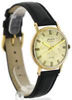 GUB Glashütte Spezimatic, Kal. 74, vergoldete Vintage- Herren- Armbanduhr, DDR