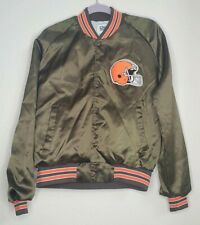 Vintage Cleveland Browns's Satin Type Jacket Coat by Chalk Line  L USA Large