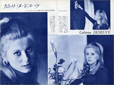 CATHERINE DENEUVE 1964 Vintage Japan Picture Clippings 2-Pages #EE12
