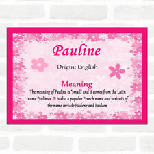 Pauline Name Meaning Pink Certificate