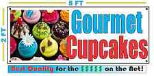 GOURMET CUPCAKES BANNER Sign NEW Larger Size for Bakery Cake Shop