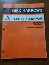 Allis Chalmersdisk Harrows Operators Manual 599753