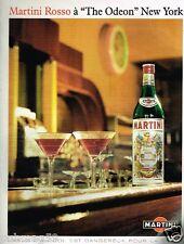Publicité advertising 1991 Apéritif Martini Rosso