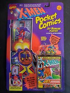1994 New X-Men Pocket Comics Jet Hangar Playset Cyclops Magneto Mini Figure SOC