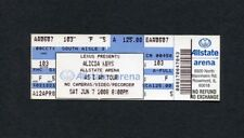Alicia Keys Unused Concert Ticket Rosemont Il As I Am tour