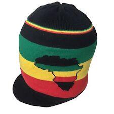 Afrique Rasta Rastafari Visière Reggae Jamaica Marley Éthiopie Selassie M/L