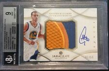 STEPHEN CURRY 2012-13 IMMACULATE PREMIUM PATCH AUTO #41/50 BGS 9 10 AUTO LOGO