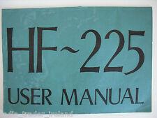 Hf-225 (Genuino Manual de instrucciones sólo).............. radio_trader_ireland.