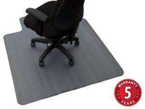 LARGE Chair Mat 1350 x1150mm Dimpled / Spiked for Carpet 5 Yr Wty MATL