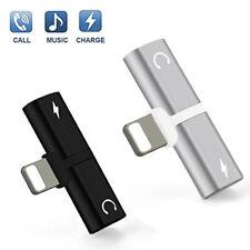 Splitter Audio Earphone AUX Charger Splitter Adapter For Apple iPhone X 7 8 Plus
