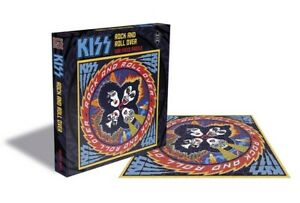 KISS Jigsaw Rock And Roll Over 500 Piece Puzzle Navy 39x39cm