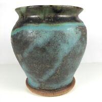 Mid Century Vintage California Studio Ceramic Pottery Vase Vessel Signed