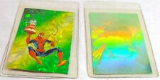 Marvel Spiderman & Incredible Hulk Holographic Cards