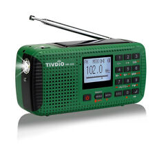 TIVDIO Portable FM/MW/SW Hand Crank Solar Emergency Radio Bluetooth AU local