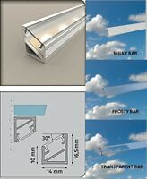 2  Meters  Aluminium  channel for LED Strip Light with Cover PVC profile