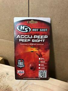 "Hot Shot Accu-Peep Peep Sight 3/16"" Diameter Red"