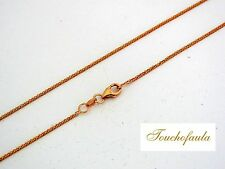 14K Solid Rose Gold Sparkling Diamond Cut Foxtail Chain 22 inches 2.1 grams