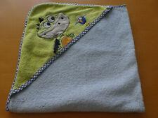 Baby Kapuzenbadetuch Dino blau