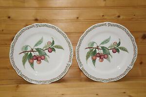 "Noritake Royal Orchard (2) Salad Plates, 8 1/2"""