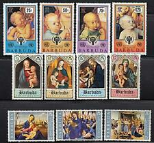 BARBUDA =  CHRISTMAS  x3 SETS  MNH RELIGION, MADONNA, PAINTINGS, DURER