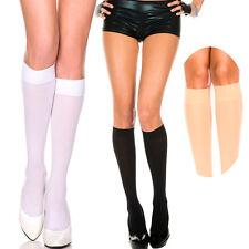 3-Pack Classic Knee High Hi Stocking Semi Sheer Half-Hose Hosiery Nylon Socks OS