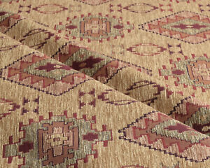 Kilim ethnic fabric upholstery tapestry southwestern boho native yellow mexican