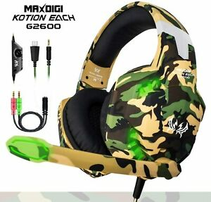 Gaming Headset Mic Headphones for PC Laptop PS4 Slim Pro Xbox One S X