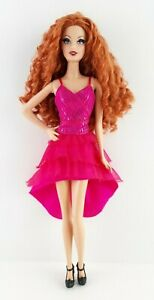 Mattel The Barbie Look City Shine Redhead Model Muse Doll Redressed