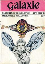 Opta Revue Galaxie N°76 - Van Vogt, Young, Delany, Gunn... - septembre 1970