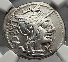 Roman Republic 125BC Rome Citizen LAW Authentic Ancient Silver Coin NGC i59857