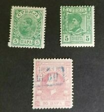 Serbia, small lot of very old stamps