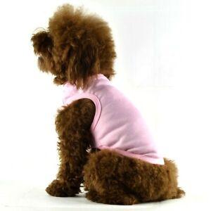 Dog Puppy Shirt Tank, Light Weight,  For Smaller Breeds - Pink