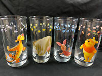 Set Of 4 Disney Winnie The Pooh Tumblers Weighted Rounded Base 16 Oz Mint