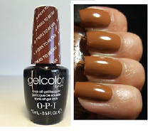 OPI GELCOLOR San Francisco A-PIERS TO BE TAN Light Brown Nail Polish Lacquer New