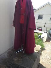 wine/burgendy cloak with sleeves pointy hood shorter version