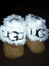 Pre Owned Infant Baby Mini Brown Ugg Bootie Size 0/1 Month