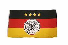 GERMANY 4 STARS , DEUTSCHER FUSSBALL - BUND LOGO ... 3' X 5' FEET FLAG BANNER