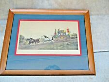 """Antique Victorian 1881 Hand-Colored Lithograph Print """"Three Minutes to Spare"""""""