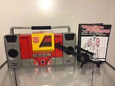 Transformer G1 Blaster 1974-1984 Takara Japan 100% Komplett❗️RAR❗
