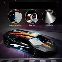 USB Electric Dual Arc Flameless Torch Rechargeable Windproof Lighter Sports Car