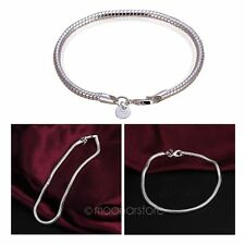Hot Sales Women's Cute Silver Plated 3mm Snake Chain Bangle Bracelet Hand Chain