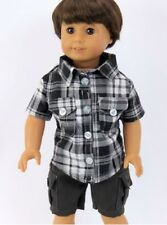 "Black Shorts Set for 18"" American Girl or Boy Doll Clothes Widest Selection"