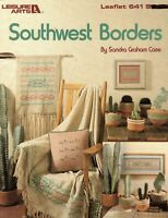 Southwest Borders Counted Cross Stitch 16 Patterns By Leisure Arts