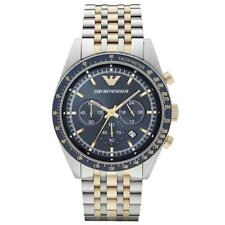 EMPORIO ARMANI Navy Blue Dial Two Tone Stainless Steel Men's Watch AR6088