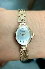 Ladies' hallmarked 9ct yellow gold Accurist quartz bracelet watch