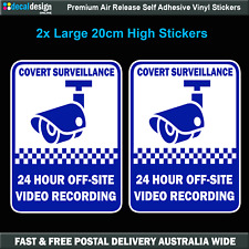 Security Camera Surveillance warning decal LARGE sticker x2 home office #S018