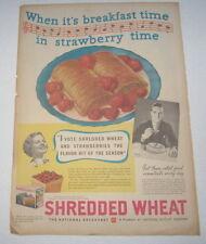 Old Vintage 1936 Nabisco SHREDDED WHEAT - Breakfast - Poster-Size Advertisement